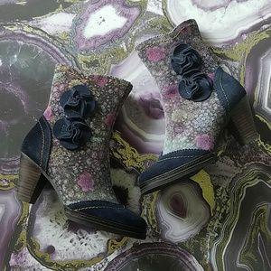 Spring step l'artiste floral boots simonetta